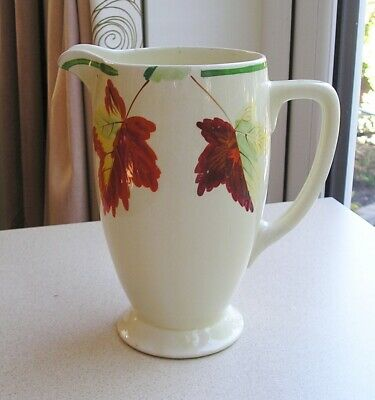 CLARICE CLIFF Large FOREST LEAVES CORONET JUG • 15£