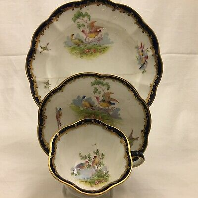 George Jones Cresent China Birds Of Paradise Cup, Saucer And Side Plate C.1920 • 0.99£