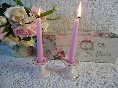 Vintage  Adderley  Pink Set Of Candle Holders, Very Good Condition • 8£