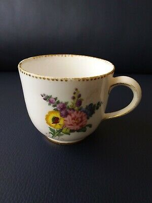 Antique French Sevres Porcelain Coffee Cup, 1782 • 49£