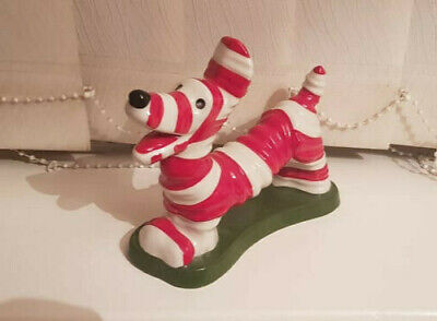 Lorna Bailey Red And White Striped Dog • 60£