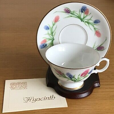 Franklin Mint Teacup & Saucer By Ronald Van Ruyckevelt - Hyacinthus Orientalis • 10£