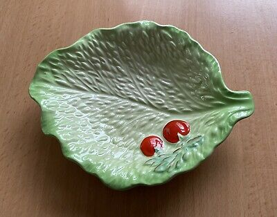 Vintage BESWICK Lettuce Cabbage Leaf Small Salad Dish No. 214 • 5£