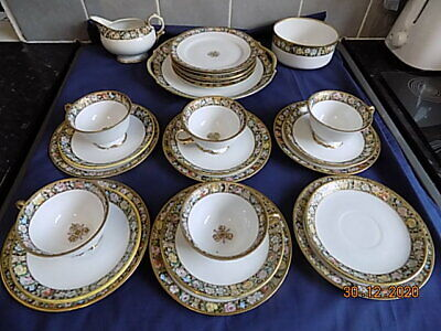 Antique C1908 - 1914 Noritake Floral/gilt Tea Set - 26 Pieces • 40£