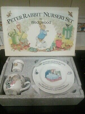 Wedgwood Peter Rabbit Nursery Set Brand New In The Box • 15£