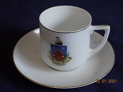 Union Crested China Cup & Saucer - Clacton On Sea VGC • 4.99£