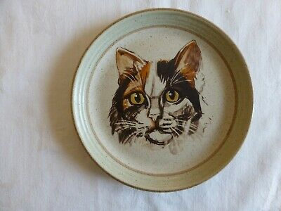 Vintage Purbeck Pottery Stoneware Bournemouth Cat Plate • 8.50£