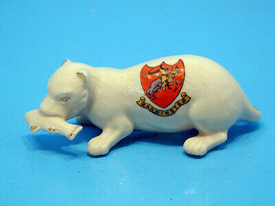 Rare Arcadian Crested China Otter Holding A Fish - Warminster • 49.99£