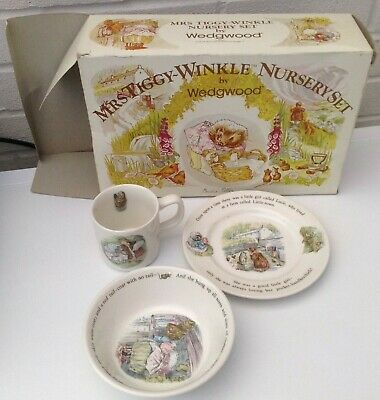 Wedgewood Mrs Tiggy-Winkle Nursery Set • 5£