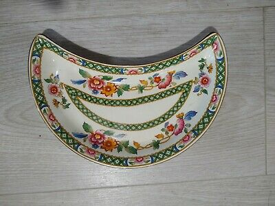 Swansea Pottery Floral Kidney Or Oval Dish - Thomas Goode • 12£