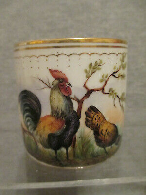 Vienna Porcelain Coffee Can With Poultry, 19thC • 125£