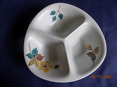 E Radford Hand Painted 3 Section Serving Dish With Leaf Design VGC • 3.49£