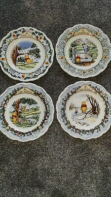 Royal Doulton Winnie The Pooh Collection Of 4 Plates • 6£