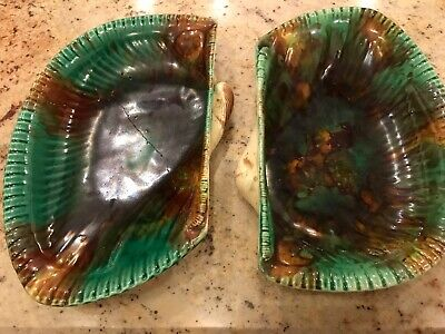 Wedgwood Majolica Victorian Side Plates 1860 - 90s Impressed Qty 2  • 8£