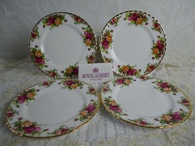 Royal Albert Old Country Roses, 4 Salad/dessert Plates , 1962 2nd Quality, Vgc  • 20£