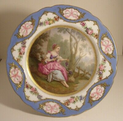 Sevres Hand Painted 8.75  Comport • 185£