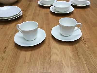 Villeroy & Boch Arco Weiss Two Coffee Cups & Saucers • 12£