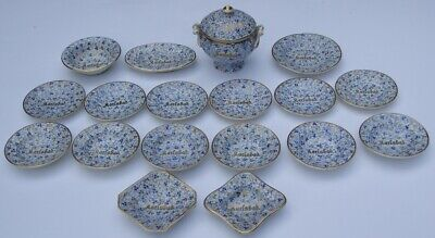 Antique Childs Dinnerware Play Set - Each Piece With Gilded Karlsbad Wording • 29.99£
