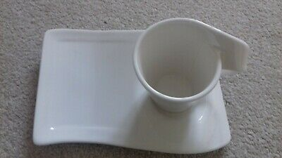 Villeroy & Boch New Wave Expresso Cup And Saucer/Plate - Excellent • 17.50£