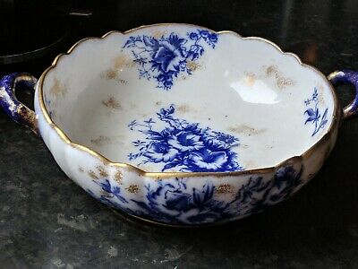 Rare Carlton Ware, Stoke On Trent, Bowl With Handle Hand Painted Flowers Floral  • 14.95£