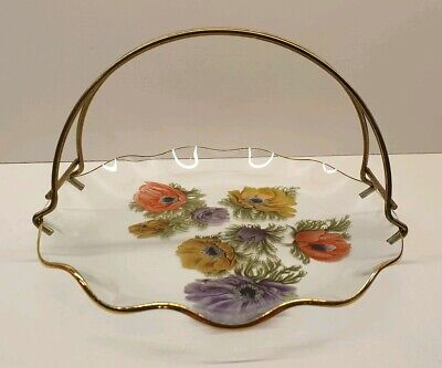 Chance  Glass 21cm Anemone Dish Bowl Plate With Handle. • 12£