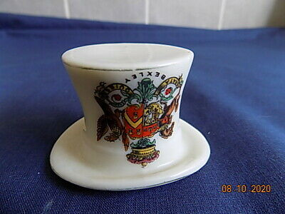Arcadian China Crested Ancient Coaching Hat Match Holder - Bexley • 3.49£