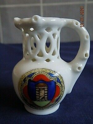 Fairy Ware Crested China Puzzle Jug - Ilkley VGC • 3.49£