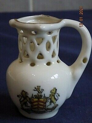 Crested China Puzzle Jug - Gloucester (Modern) VGC • 3.99£