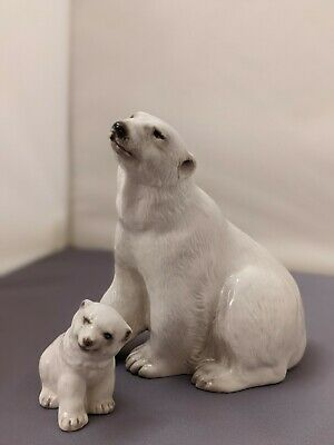 Branksome China Polar Bear And Cub Figurines Ornaments. Sold As A Pair. • 14.80£