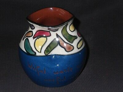 Studio Pottery Royal Torquay, Devon Made Small Vase • 4.99£