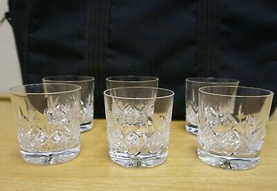 X6 Lead Crystal  Whisky Tumblers - 7.5cm Tall • 34£