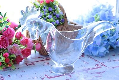 Vintage French Vannes Art Glass Rooster - Vannes Glass Rooster - Glass Chicken • 39.99£