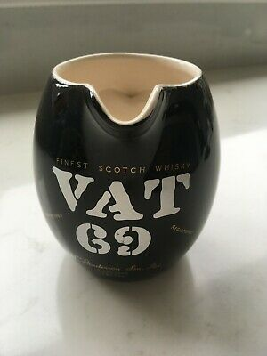 WADE VAT 69 Circa 1950s WHISKY/WATER JUG Black Classic Modernist Style  • 2.99£