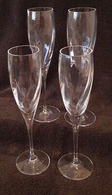 Lead Crystal Champagne Flutes Set Of 4 • 15£