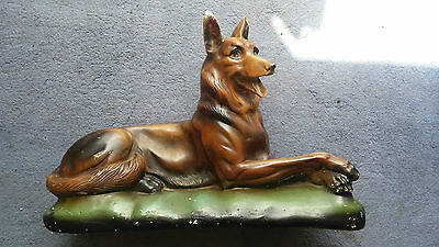 Vintage  Alsatian Dog  About 2ft Long 16in Tall • 25£