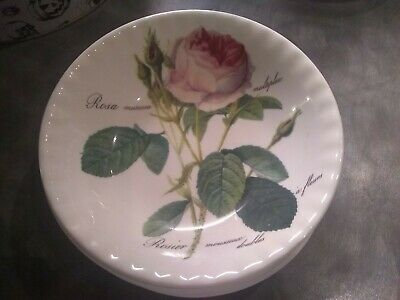 SET OF 6 X ROY KIRKHAM REDOUTE ROSES FINE BONE CHINA CEREAL / SOUP BOWLS • 21£