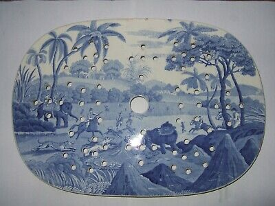 Spode  Indian Sporting.  Blue & White Drainer C1820 • 750£