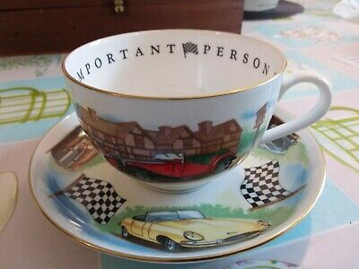Royal Worcester  A Very Important Person  Classic Motor Cars Large Cup & Saucer • 17.50£