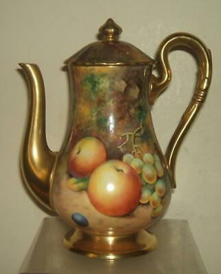 Royal Worcester Handpainted Fruit Signed Smith Coffee Pot • 675£