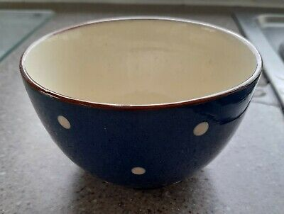 Dartmouth Pottery Blue And White Spotty Bowl • 10£
