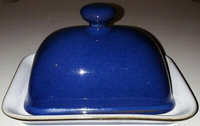 Denby Imperial Blue Butter / Cheese Dish • 5.19£