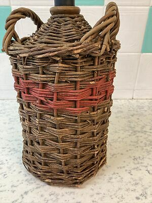 Vintage CARBOY Pottery Stoneware Bottle In Wicker Basket. Lot 1 • 15£