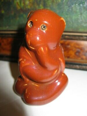 Art Pottery Dunmore Or Burmantofts Seated Monkey C1890 • 85£