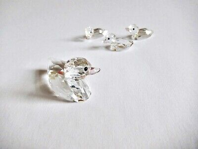 Swarovski Mother Duck And 3 Ducklings Set, Exc. Cond, No Box • 30£