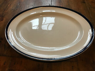 Bleu De Roi Alfred Meakin Large Serving Dish Vintage 1945 White And Navy/gold • 13.99£