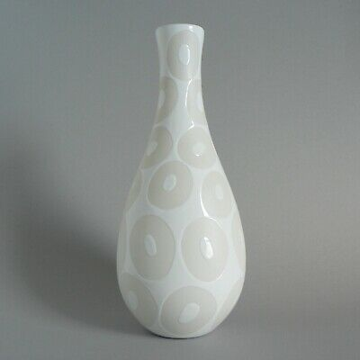 Poole Pottery 12  Baluster Vase Unusual Circles Dots Biscuit Unglazed Trial Rare • 13£