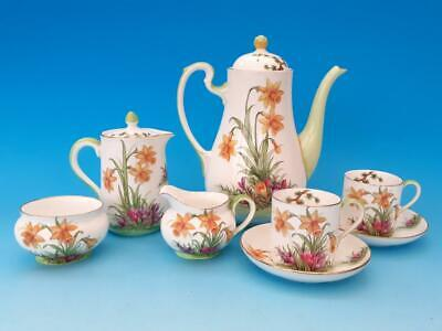 Pretty Aynsley Daffodil & Crocus Tea For Two, Teapot, Cups, Saucers Etc • 30£
