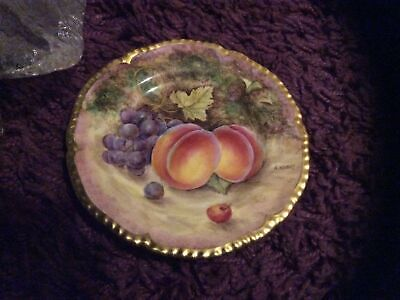 Royal Worcester Hand Oainted Fruit Plate By. A.kendry • 225£