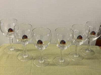 Leffe (belgium) Abbey Beer Glasses  --  Boxed Set Of 6 • 34.37£