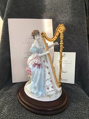 """Royal Worcester """"Music"""" Figurine Compton Woodhouse Porcelain • 226£"""